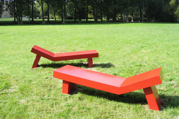 bancs rouges